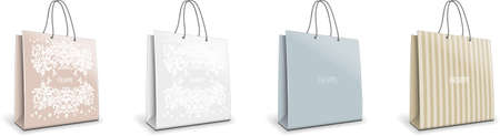 luxury store paper bag  set