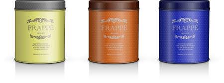 elegant cylinder packaging set Stock Vector - 66941899
