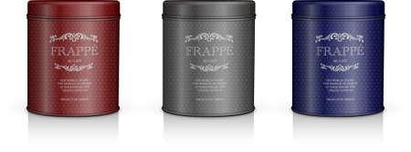 elegant cylinder packaging set Illustration