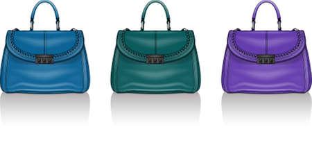 womens handbag set Stock Illustratie