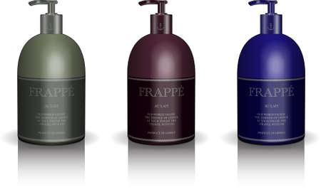 soap bottle vector set