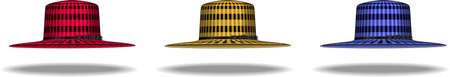 isolated hat set illustration