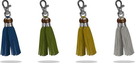 tassel: keychain tassel set Illustration