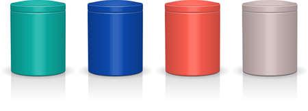 tin: Tin jar chocolate packaging illustration Illustration