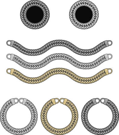 Metal chain brush illustration
