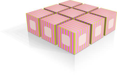 Box group illustration Ilustração