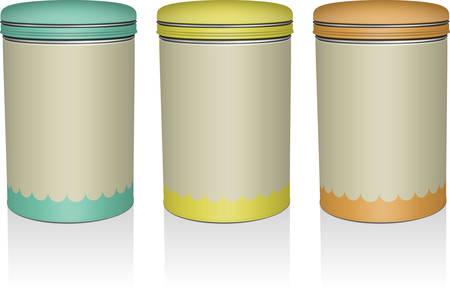 tin: tea tin chocolate packaging illustration