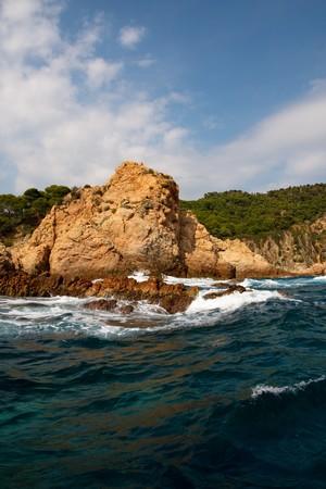 Rock on the sea coastline