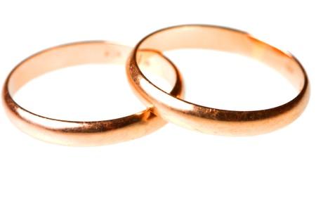 Pair of golden wedding rings Stock Photo - 4384341