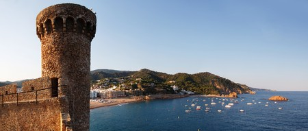 Old stronghold lookout tower , Tossa de Mar ,Spain