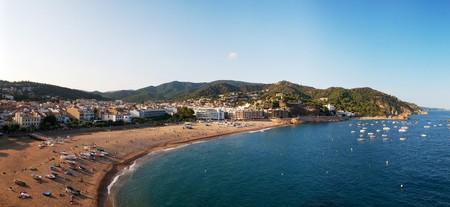 Veduta panoramica della costa, Spagna