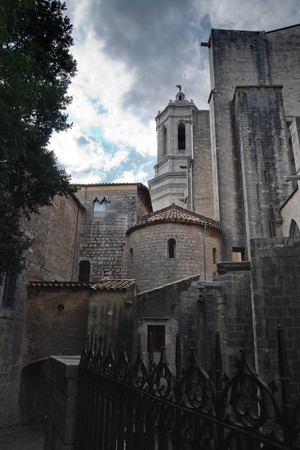 Old cathedral , Girona , Spain Stock Photo