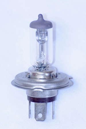 12v: The 12V Halogen Lamp on a white background Stock Photo