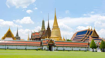 Wat Phra Kaew is a landmark of the Thailand. Stock Photo