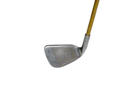 worl: Golf clubs, through hard work. Stock Photo