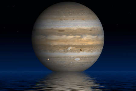 jupiter: Planet Jupiter. Elements of the furnished by NASA.