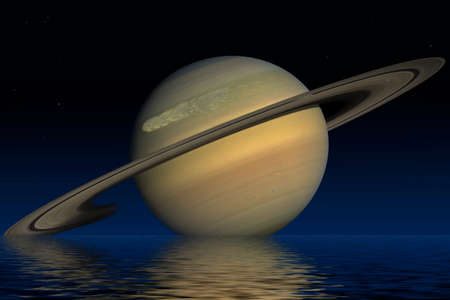 saturn rings: Planet Saturn. Elements of the furnished by NASA. Stock Photo
