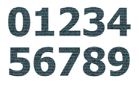 numeral: Binary numeral pattern on number