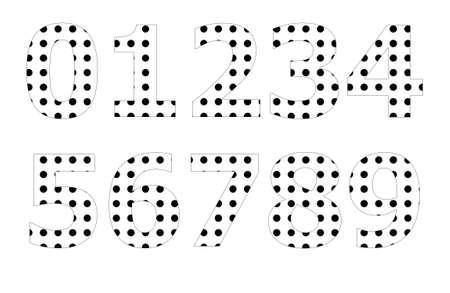 polka dot pattern: Polka dot pattern on number