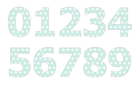 polka dot pattern: Polka dot pattern on number
