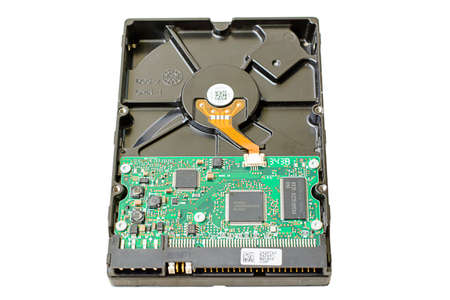 ide: The SATA harddisk drive on white background