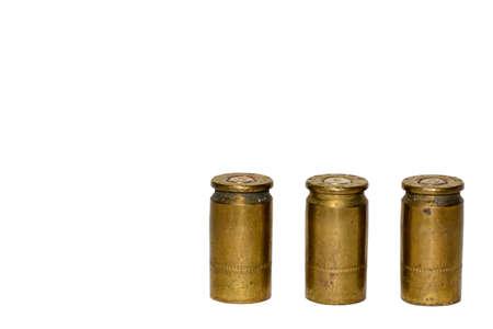 gunshot: The gunshot or bullets on a white background.