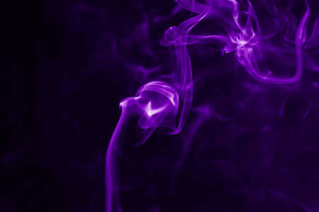green and purple: Colorful smoke