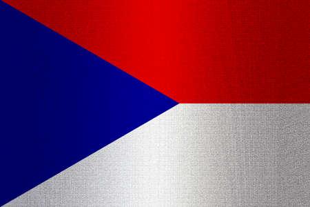 working stiff: Flag of Czechoslovakia on a stone wall background.