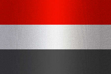 working stiff: Flag of Yemen on a stone wall background.