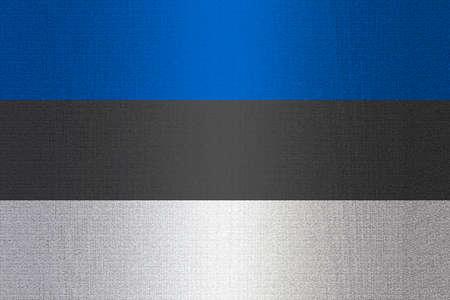 working stiff: Flag of Estonia on a stone wall background.