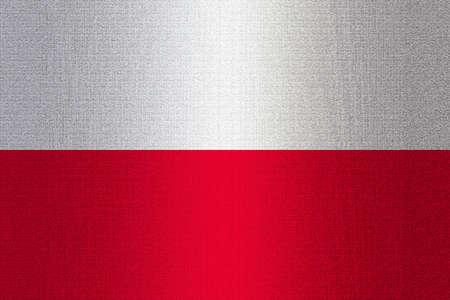 working stiff: Flag of Poland on stone wall background.