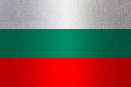 working stiff: Flag of Bulgaria on a stone wall background.