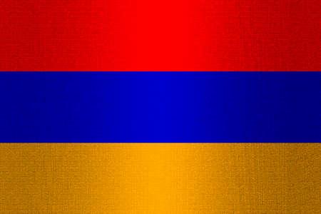armenia: Flag of Armenia on a stone wall background.
