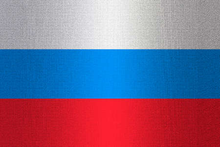 working stiff: Flag of Russia on a stone wall background.