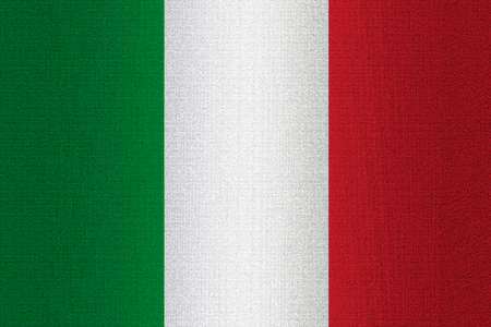 working stiff: Flag of Italy on a stone wall background.