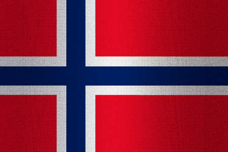working stiff: Flag of Norway on a stone wall background.