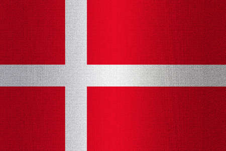working stiff: Flag of Denmark on a stone wall background. Stock Photo