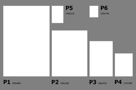dimensions: Example dimensions of Canadian paper sizes.