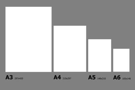 dimensions: Example dimensions of International paper A series paper sizes.