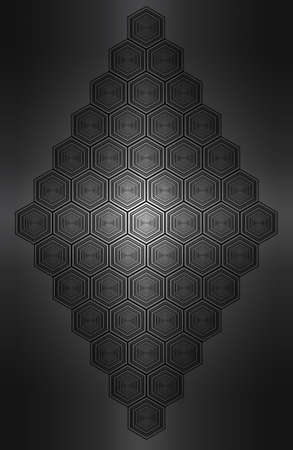 Black & white abstract paterns. Its hexagon as turtle.