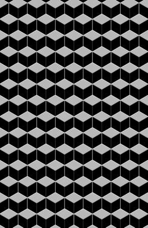 Black & white abstract paterns. Its hexagon or cubic.
