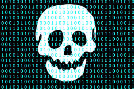 lurk: Hacker lurk in the binary code on a black background.