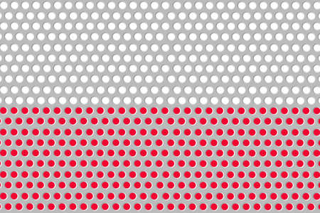 Flag of Poland on metal wall background. Stock Photo