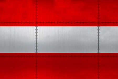 Flag of Austria on a metal wall background. Stockfoto