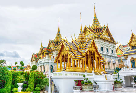 One landmark of the Grand Palace is a complex of buildings at the heart of Bangkok, Thailand.