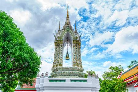 One landmark of Wat Phra Chetuphon Wimon Mangkhalaram Ratchaworamahawihan in Bangkok, Thailand. A place everyone in every religion can be viewed.