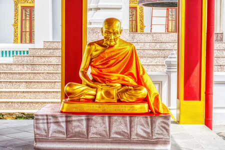 One landmark of Wat Kanlayanamit Woramahaviharn in Bangkok, Thailand. A place everyone in every religion can be viewed.