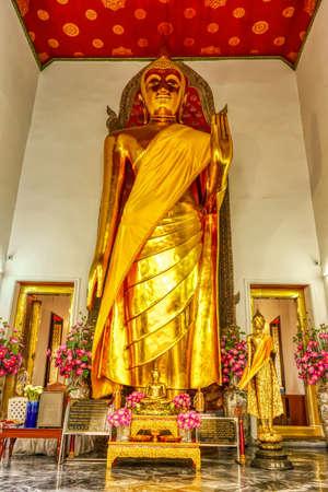 One landmark of Wat Phra Chettuphon Wimon Mangkhalaram Ratchaworamahawihan in Bangkok, Thailand. A place everyone in every religion can be viewed.