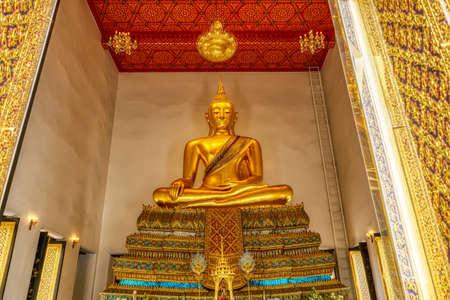 One landmark of Wat Prayurawongsawas Worawihan in Bangkok, Thailand. A place everyone in every religion can be viewed.