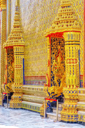One landmark of Wat Ratchabophit Sathit Maha Simaram in Bangkok, Thailand. A place everyone in every religion can be viewed.